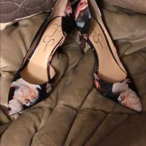 Size 8.5 Jessica Simpson Floral High Heels